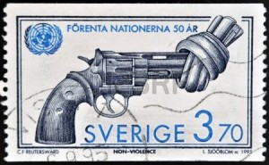 nonviolent swedish stamp